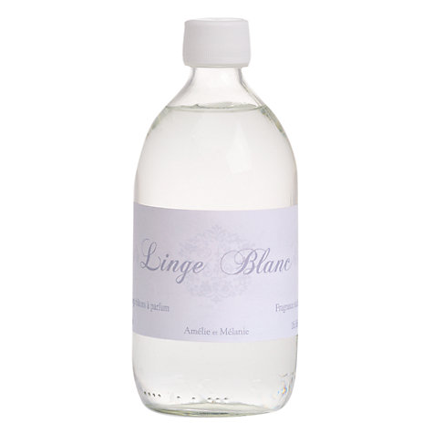 Buy Amelie et Melanie White Linen Diffuser Refill, 500ml Online at johnlewis.com
