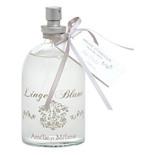 Buy Amelie et Melanie White Linen Pillow Mist, 100ml Online at johnlewis.com