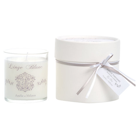 Buy Amelie et Melanie White Linen Scented Candle Online at johnlewis.com