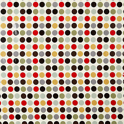 John Lewis Great Spot PVC Tablecloth Fabric, Cinnamon