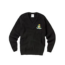 Buy St Julie's Catholic High School 6th Form Pullover, Black Online at johnlewis.com