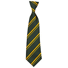 Buy St Laurence's Catholic Primary School Unisex Elasticated Tie, Green/Gold Online at johnlewis.com