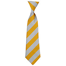 Buy Sancton Wood School Boys' Elasticated Tie, Grey/Gold Online at johnlewis.com