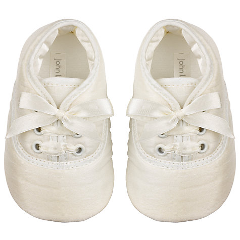 Buy John Lewis Baby Laced Shoes, Cream Online at johnlewis.com