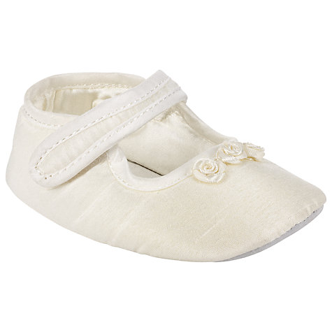 Buy John Lewis Baby Mary Jane Shoes, Cream Online at johnlewis.com