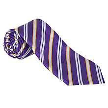 Buy St John Fisher Catholic Primary School Unisex Tie, Purple/Silver Online at johnlewis.com