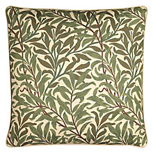 Buy William Morris Willow Bough Cushion, Green Online at johnlewis.com