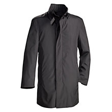 Buy Bugatti Buckle Neck Coat, Black Online at johnlewis.com