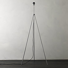 Buy John Lewis Chrome Tripod Floor Lamp Base Online at johnlewis.com