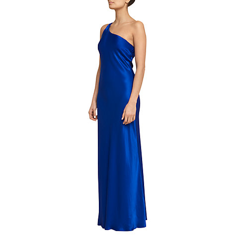 Buy Ghost One Shoulder Maxi Dress, Electric Blue Online at johnlewis.com