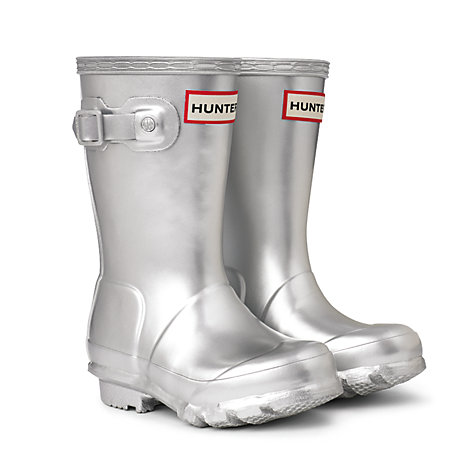 Buy Hunter Kids' Classic Wellingtons, Silver Online at johnlewis.com