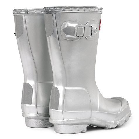 Buy Hunter Children's Classic Wellington Boots, Silver Online at johnlewis.com