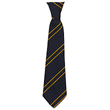 Buy St John's Walham Green CE Primary School Unisex Elasticated Reception Tie, Black/Yellow Online at johnlewis.com