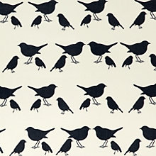 Buy Anorak Birds PVC Cut Length Tablecloth, Grey / Cream Online at johnlewis.com