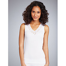 Buy Hanro Moments Lace Camisole, White Online at johnlewis.com