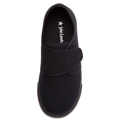 Buy John Lewis Rip Tape Plimsolls, Black Online at johnlewis.com