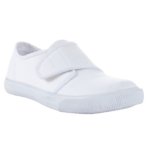 Buy John Lewis Rip Tape Plimsolls, White Online at johnlewis.com