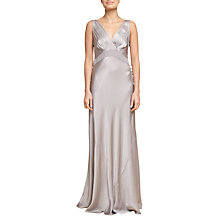 Buy Ghost V-Neck Maxi Dress, Silver Online at johnlewis.com