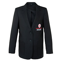 Buy Hampstead School Girls' Polyester Blazer, Black Online at johnlewis.com