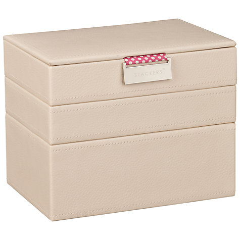 Buy Stackers Mini Jewellery Trays, Cream Online at johnlewis.com