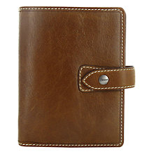 Buy Filofax Leather Pocket Malden Organiser, Ochre Online at johnlewis.com