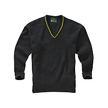 Buy Knole Academy Unisex V-Neck Pullover, Charcoal Grey Online at johnlewis.com