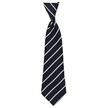 Buy Halewood Church of England School Unisex Elasticated Tie, Navy/Silver Online at johnlewis.com