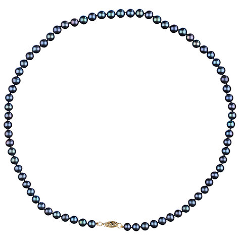 Buy A B Davis Freshwater Pearl Necklace, Black Online at johnlewis.com