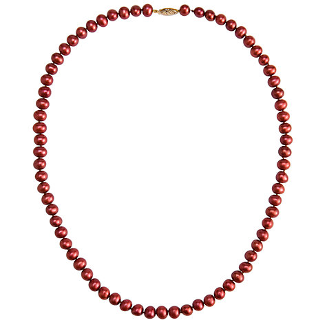 Buy Freshwater Pearl Necklace, Cranberry Online at johnlewis.com