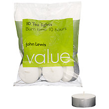 Buy John Lewis The Basics Maxi Tealights, Pack of 10 Online at johnlewis.com