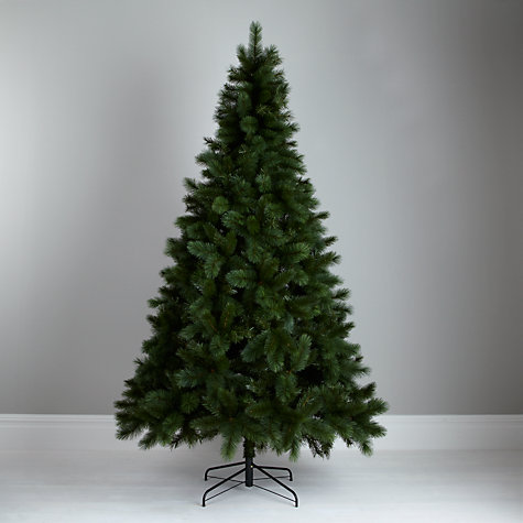Buy John Lewis Fireside Mixed Tip Christmas Tree, Green, 8ft Online at johnlewis.com