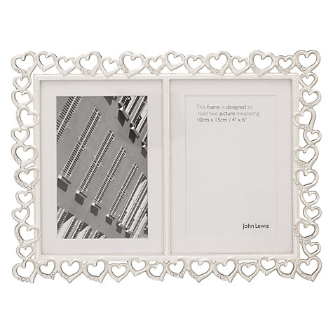 Buy John Lewis Hearts Frames, Silver Plated Online at johnlewis.com