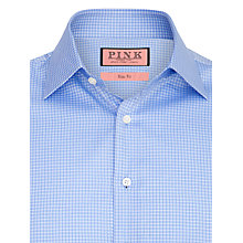 Buy Thomas Pink Moto Check Shirt, Blue Online at johnlewis.com