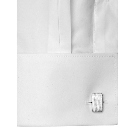 Buy Thomas Pink Solid Slim Fit Double Cuff Shirt, White Online at johnlewis.com