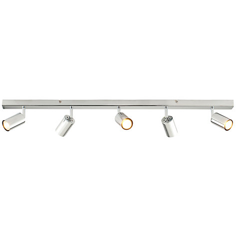 Buy John Lewis Vesper 5 Spotlight Ceiling Bar, Chrome Online at johnlewis.com