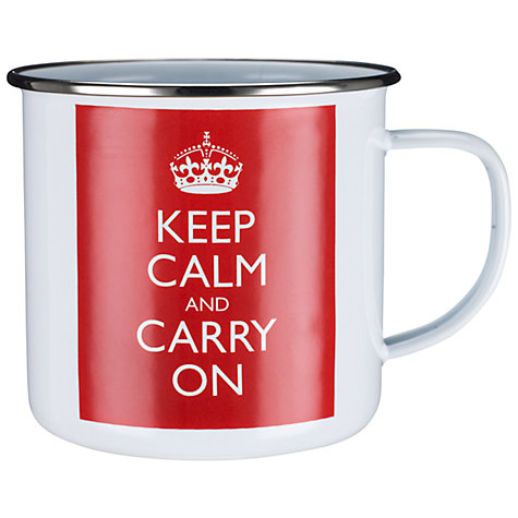 Buy Keep Calm & Carry On Mug Online at johnlewis.com