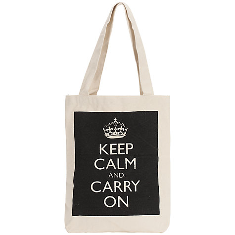 Buy Keep Calm & Carry On Canvas Shopper Online at johnlewis.com