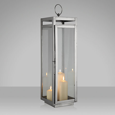 Buy John Lewis Tall Rectangular Box Lantern Online at johnlewis.com