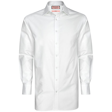 Buy Thomas Pink XL Sleeves Plain Oxford Classic Fit Double Cuff Shirt, White Online at johnlewis.com