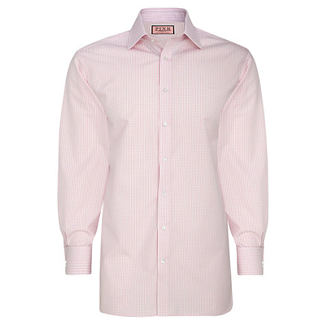 Buy Thomas Pink XL Sleeves Gingham Check Shirt Online at johnlewis.com