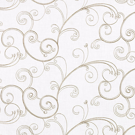 Buy John Lewis Botticelli Voile Fabric, Cream Online at johnlewis.com