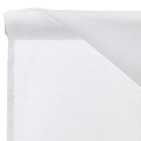 Buy John Lewis Dijon Muslin Voile Fabric, White Online at johnlewis.com