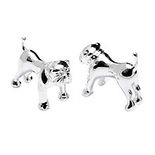 Buy Thomas Pink Silver Bulldog Cufflinks, Silver Online at johnlewis.com