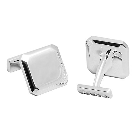 Buy Thomas Pink Silver Bevelled Square Cufflinks, Silver Online at johnlewis.com