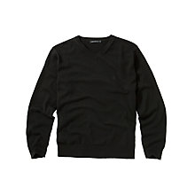 Buy French Connection Alderley Cotton V-Neck Jumper, Black Online at johnlewis.com