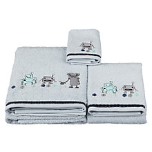 Buy little home at John Lewis Robots & Rivets Towels, Blue Online at johnlewis.com