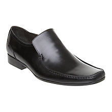 Buy Dune Atilla Leather Slip On Shoes, Black Online at johnlewis.com