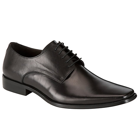 Buy Dune Alphabet Square Toe Shoes, Black Online at johnlewis.com