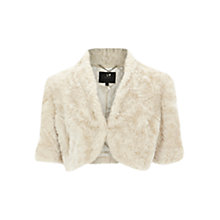 Buy Coast Eliana Faux Fur Cover Up, Ivory Online at johnlewis.com