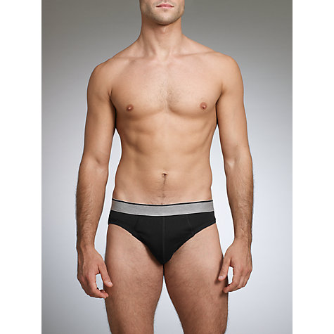 Buy John Lewis Organic Cotton Briefs, Pack of 4, Black/Grey/White Online at johnlewis.com